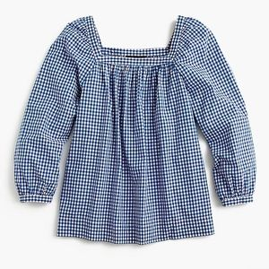 J Crew Penny top in Gingham 10